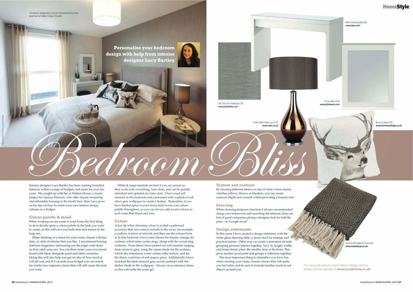 LucyB Interior designer in HomeStyle Magazine