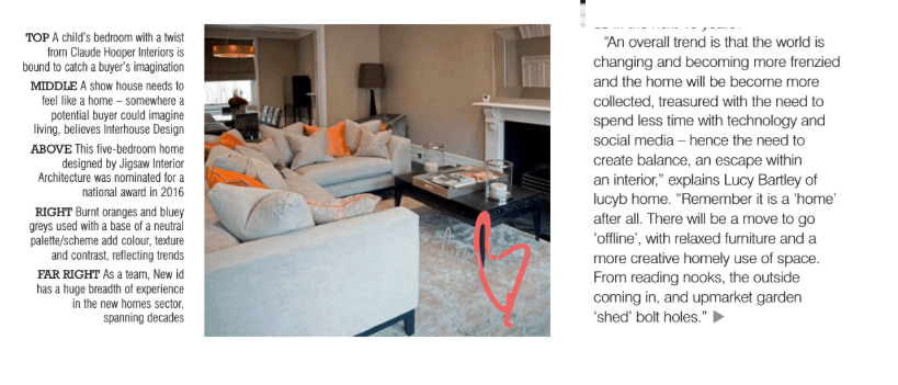 LucyB Interior designer in Showhouse Magazine